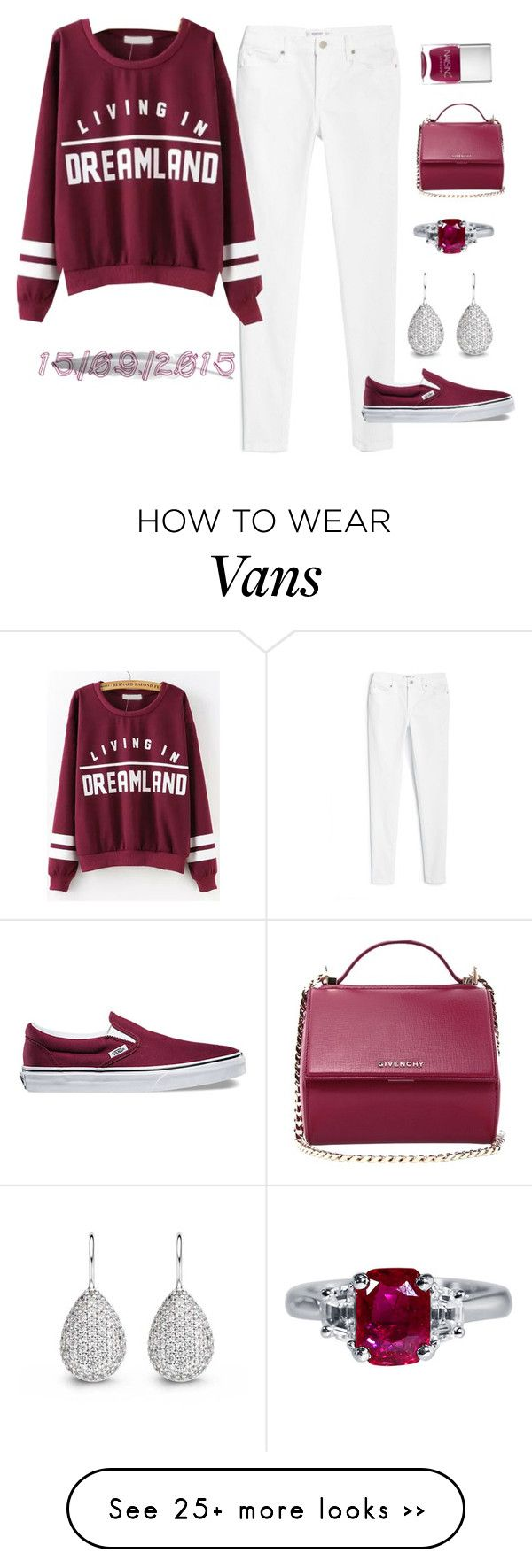 """""""15/09/2015"""" by apcquintela on Polyvore featuring MANGO, Vans, Givenchy and Nails Inc."""