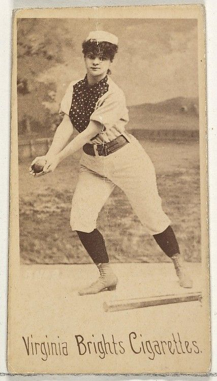 Realbroad From The Girl Baseball Players Series For Virginia Brights Cigarettes 1886 Baseball Girls Baseball Baseball Cards