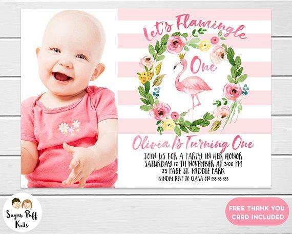 flamingo birthday invitations