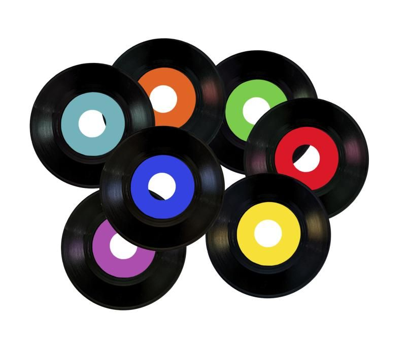 how to make table centerpieces out of old 45 records 45