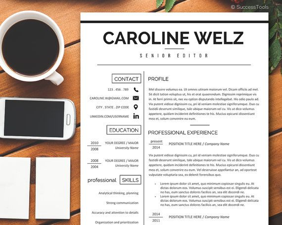 Resume Template - Professional Resume Template Instant Download