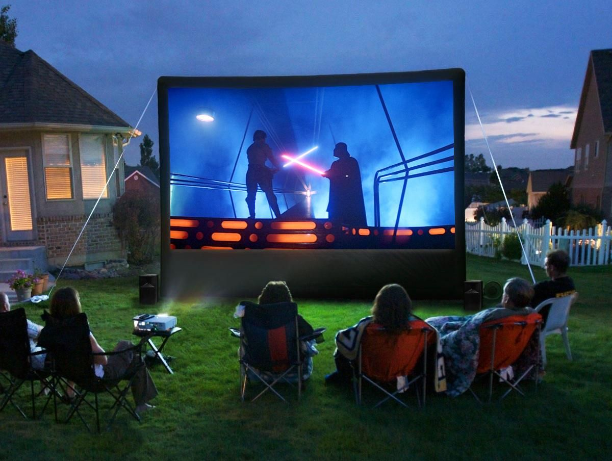 An outdoor home theater can be a really fun diy project for Backyard entertainment ideas
