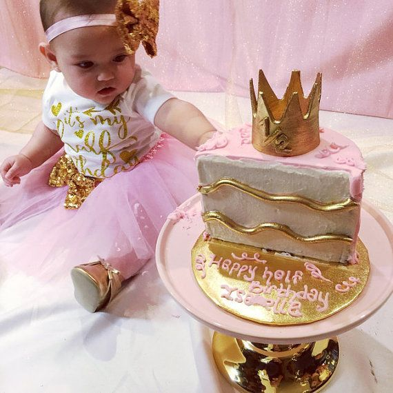 Pink and Gold Half Birthday tutu outfit,1/2 birthday outfit,half ...