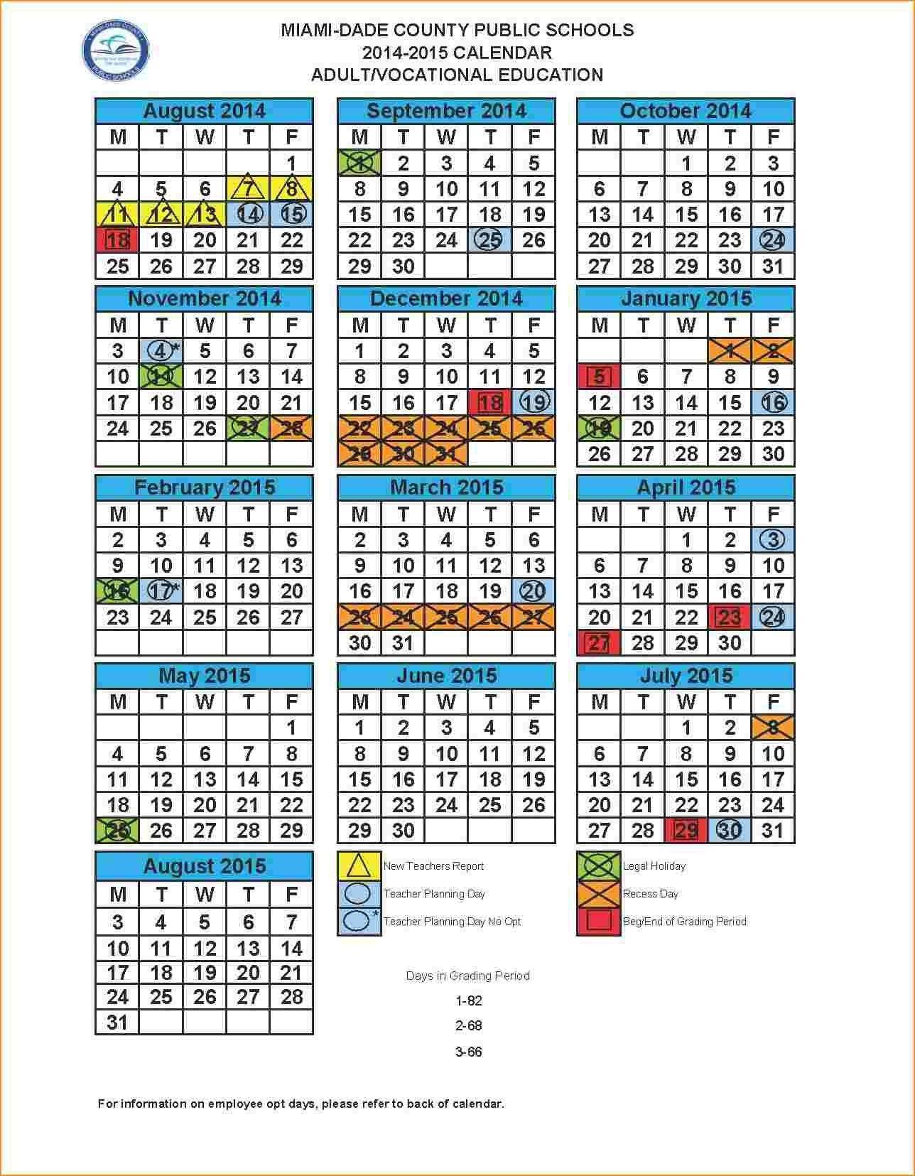 Dadeschools 2018 Calendar School Calendar Homeschool Calendar Calendar