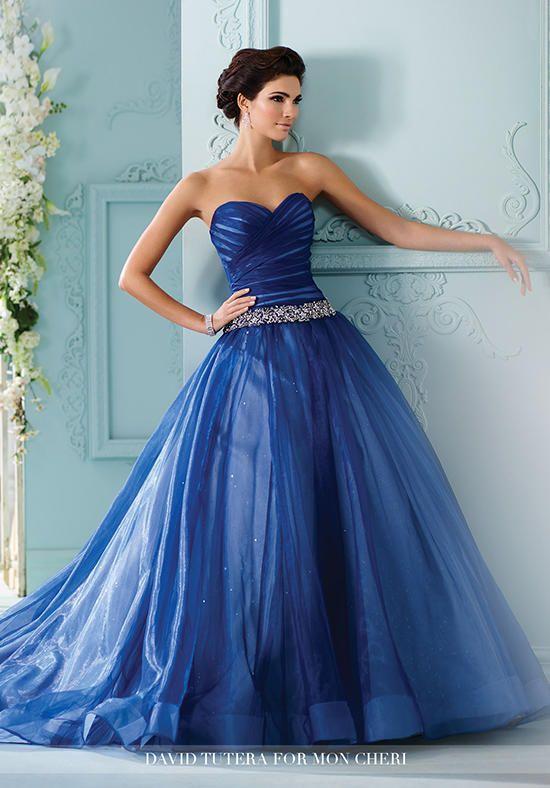 David Tutera for Mon Cheri 216257 Indigo Wedding Dress photo ...