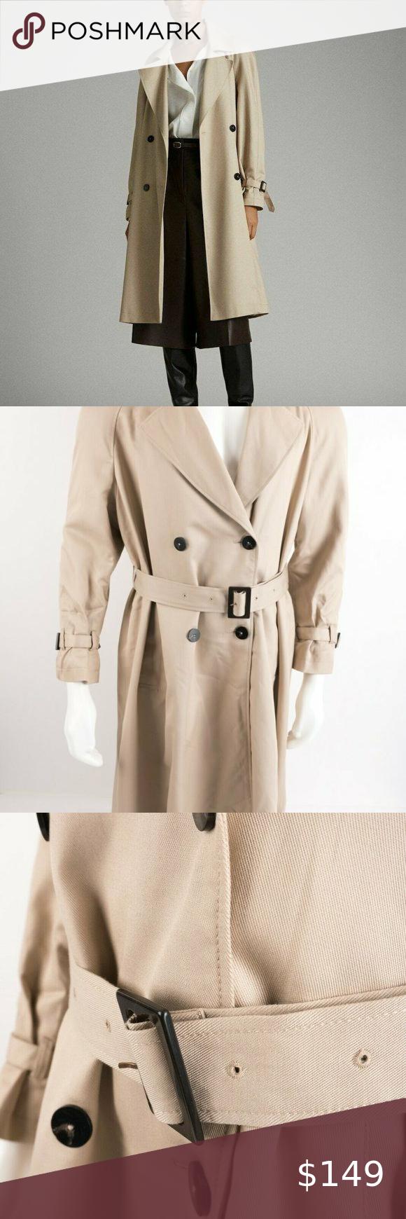 Massimo Dutti Womens Trench Coat Jacket L Relaxed Trench Coats Women Trench Coat Jackets Trench Coat