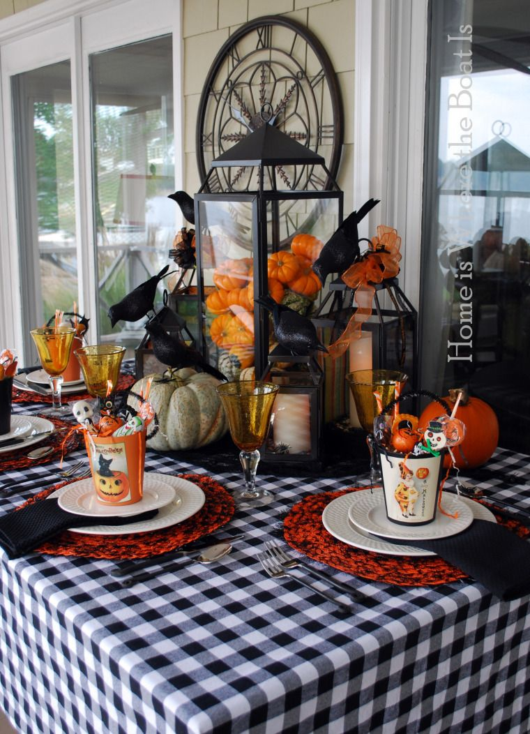 A Jolly Halloween Pinterest Halloween table, Tablescapes and - Halloween Table Decorations Pinterest