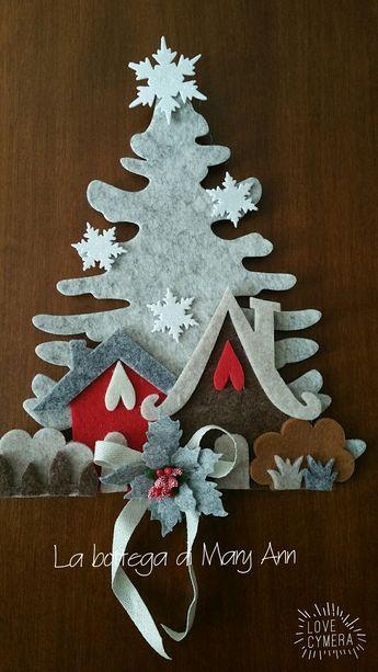 Decorazioni Natalizie In Feltro Pinterest.Natale In Feltro E Pannolenci Alberi Di Natale Cucito Creativo
