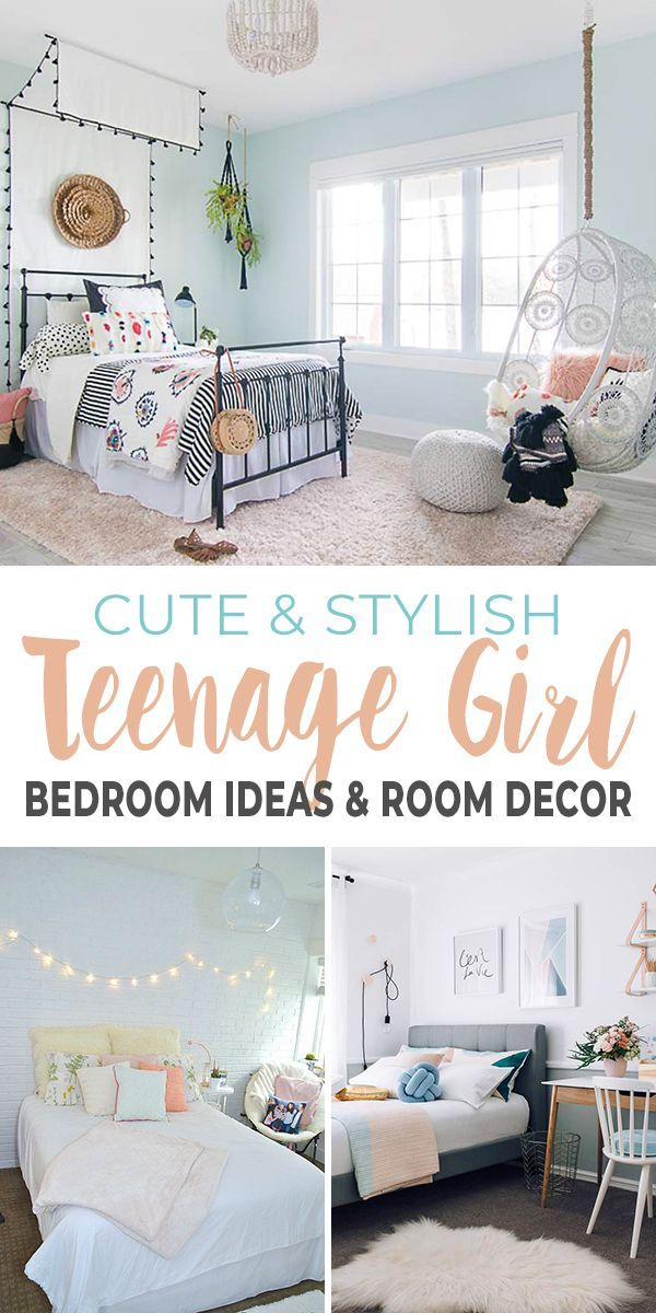 Cute & Stylish Teenage Girl Bedroom Ideas & Room Decor ... on Trendy Teenage Room Decor  id=80732