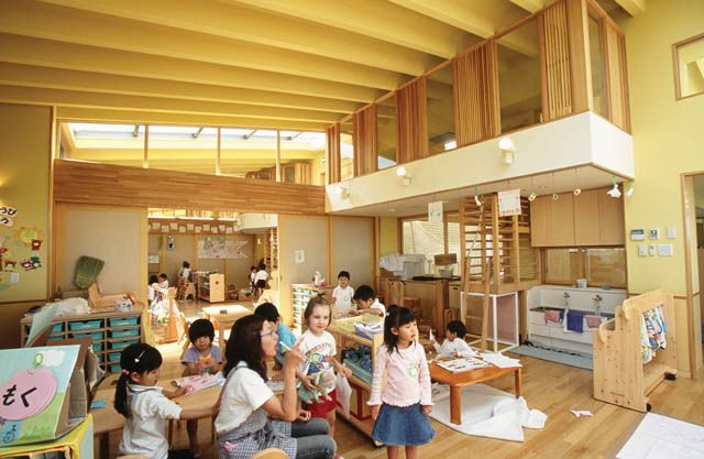 Yuyu No Mori Nursery School And Day Scaled Furniture For Creative Activities