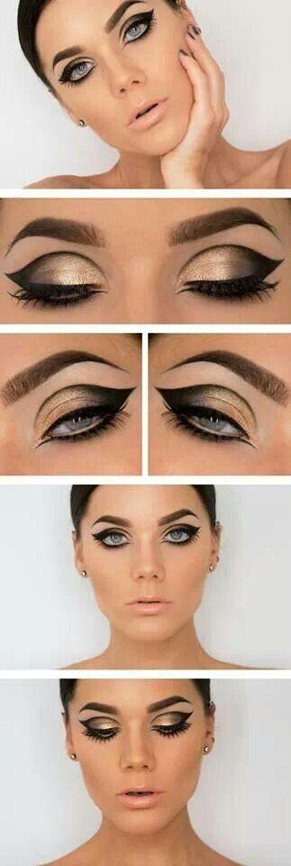 Makeup of the 60s! ~ cut crease eye makeup Gorgeous Party Makeup Ideas