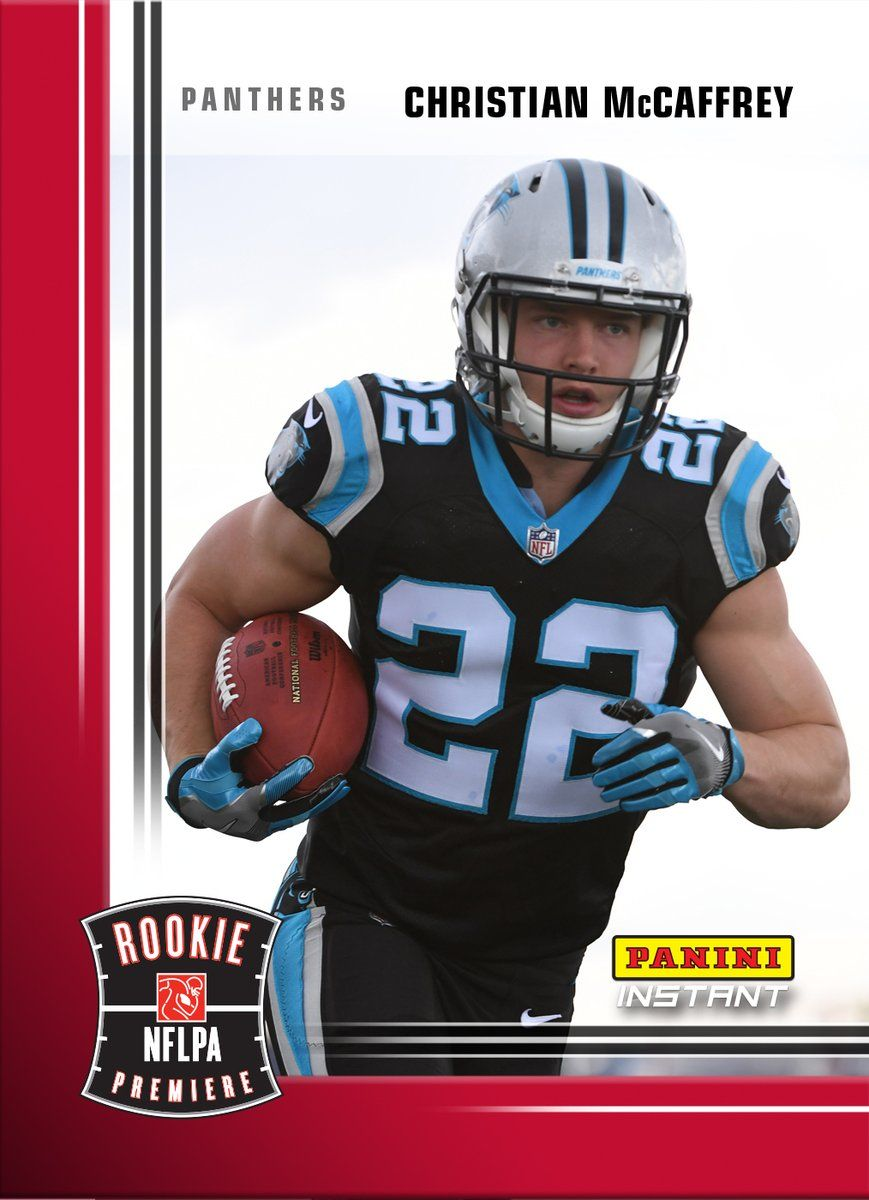 Panini America @PaniniAmerica  The first card of @CMcCaffrey5 in a @Panthers uniform hits #PaniniInstant at 2 p.m. CST today. #WhoDoYouCollect #NFL