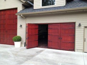 Vertical Folding Garage Doors Bi Fold Carriage Doors Portland Or Traditional Garage Doors Diy Garage Door Garage Doors Carriage Doors