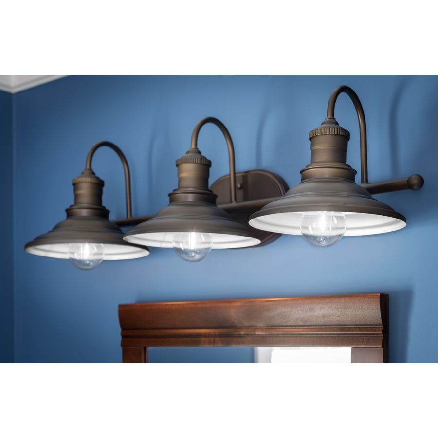 Shop Allen + Roth 3 Light Hainsbrook Aged Bronze Bathroom Vanity Light At  Lowes.