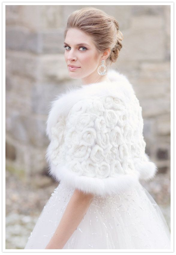fur shrug wedding dresses pinterest winter fur and