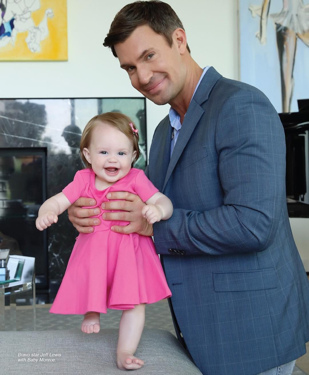 Jeff Lewis And Gage Edward Meet Adorable Daughter Monroe For First