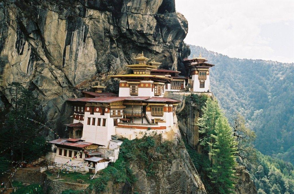 Bhutan, Tiger's nest, klasztor przyklejony do skał
