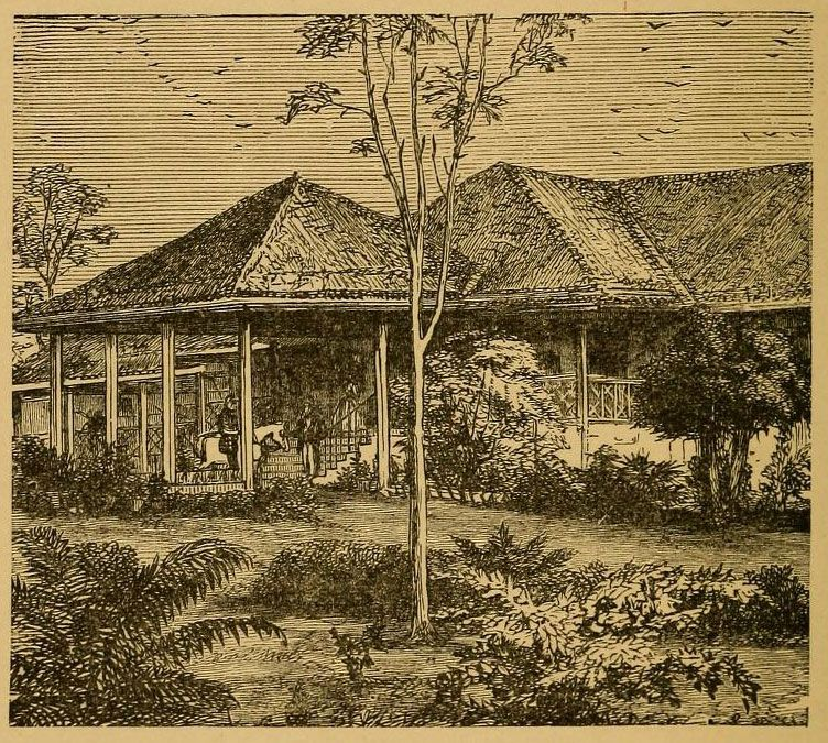 An Illustration Of Old Indian Bungalow Illustrations From India 1876