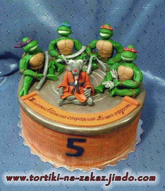 Tmnt Cake Ninja Turtles And Splinter Tmnt Cake Ninja Turtles Birthday Party Ninja Turtle Birthday