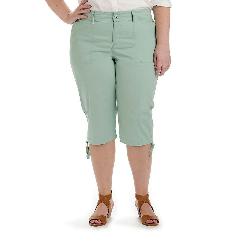 5a0daea510730 Plus Size Lee Harper Relaxed Fit Skimmer Capris