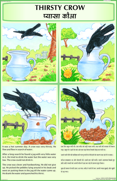 Thirsty Crow | thirsty crow | Moral stories, Short moral stories