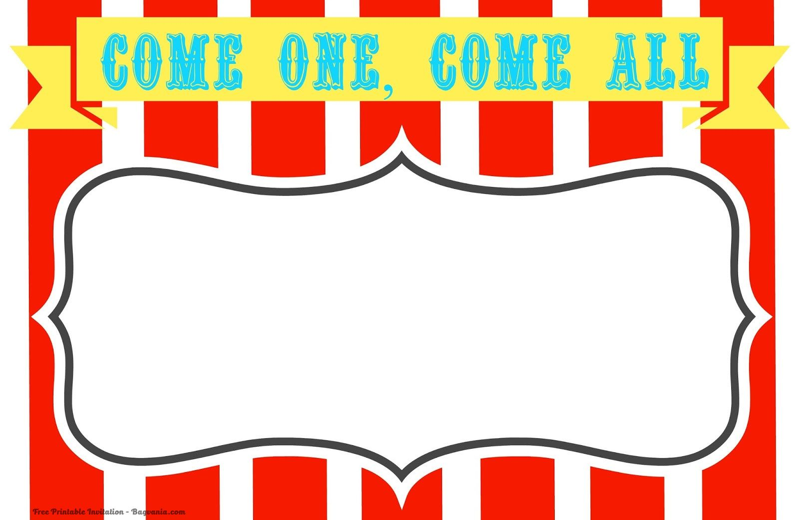 Free Free Printable Circus Birthday Invitations Template   FREE ...