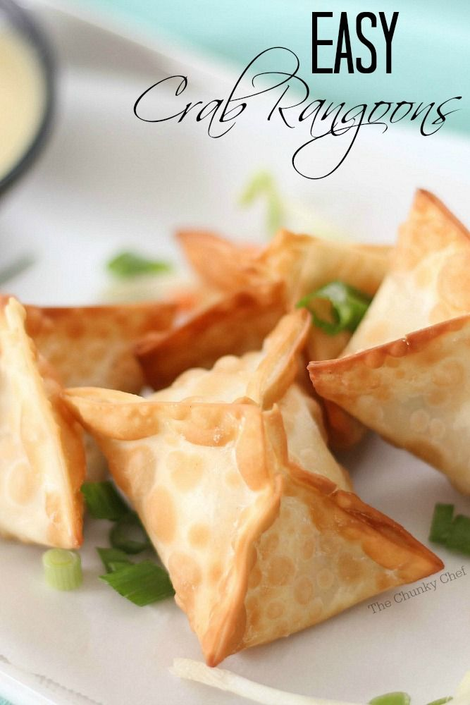Like your favorite Chinese takeout appetizer... but WAY better!! These crab rangoons are simple to make and taste so good the whole family will enjoy them!