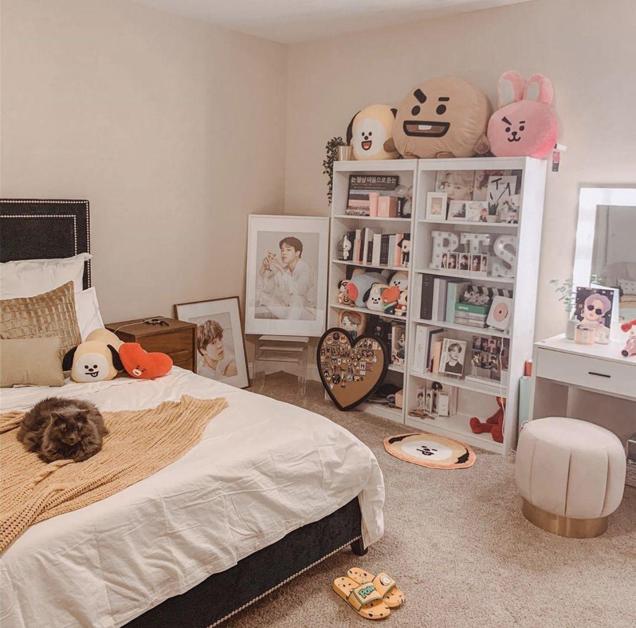 #bts #kpop #btsdecor #bedroom #bedroomdecor #kpoproom # ... on Room Decor Bts id=31507