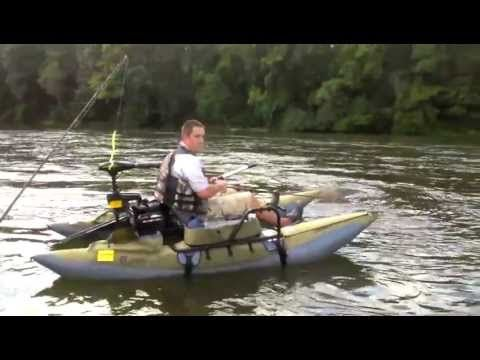 Colorado xt pontoon on catawba river youtube classic for Fly fishing pontoon
