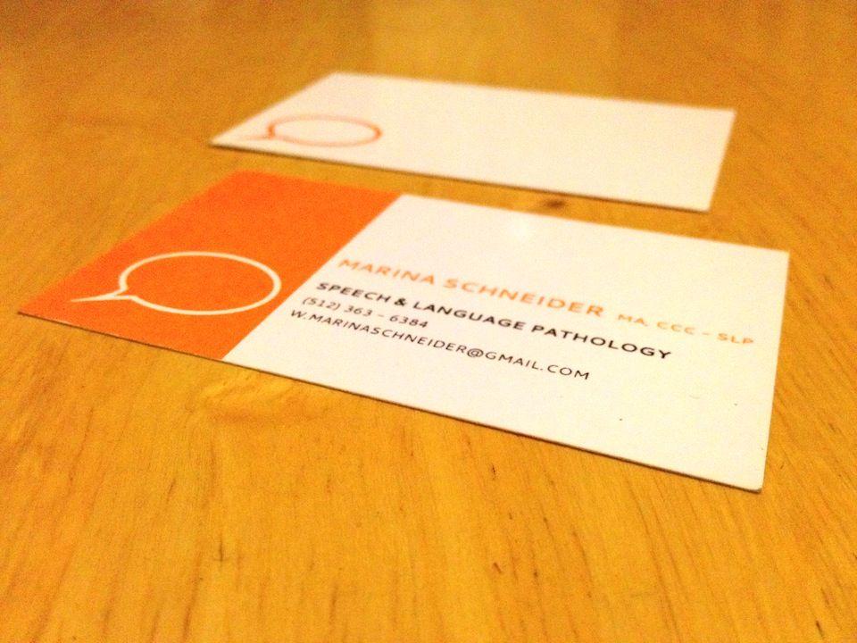 Speech-Therapist-Business-Cards-3   diy   Pinterest   Business cards