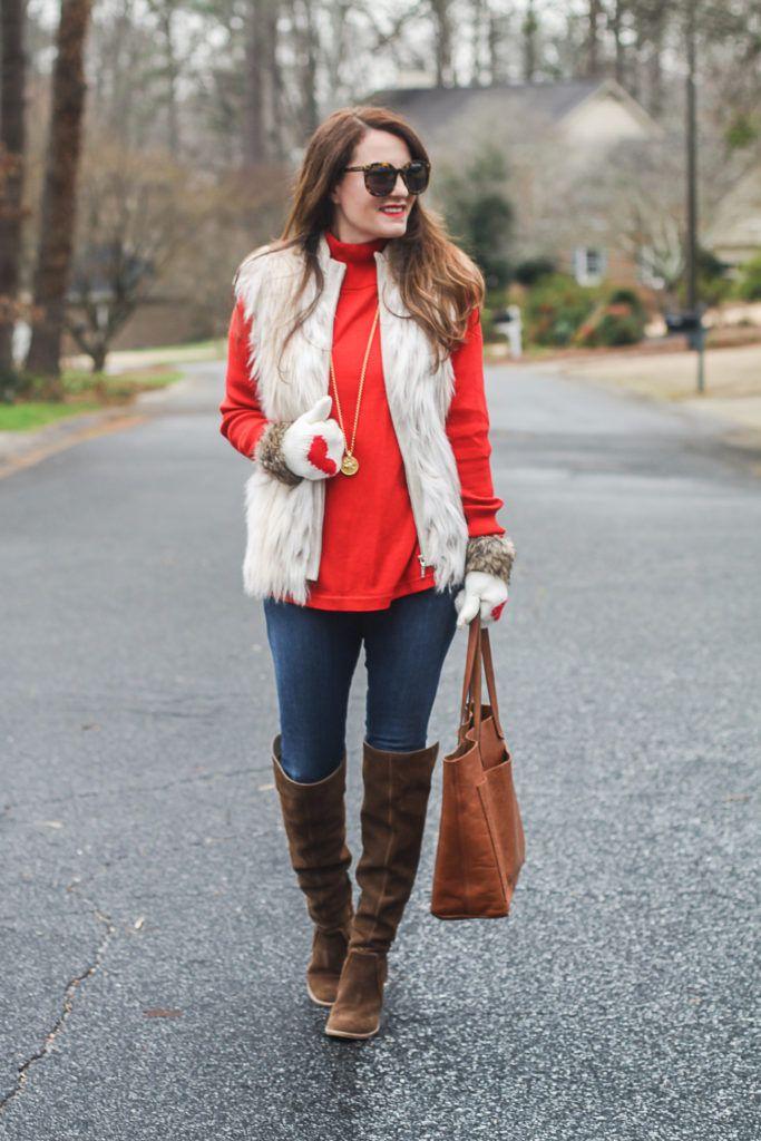 Cute Valentine's Day outfit idea via Peaches In A Pod blog.