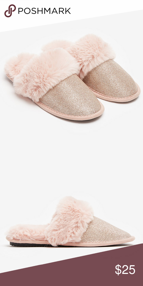 EXPRESS Sparkly Glitter Faux Fur