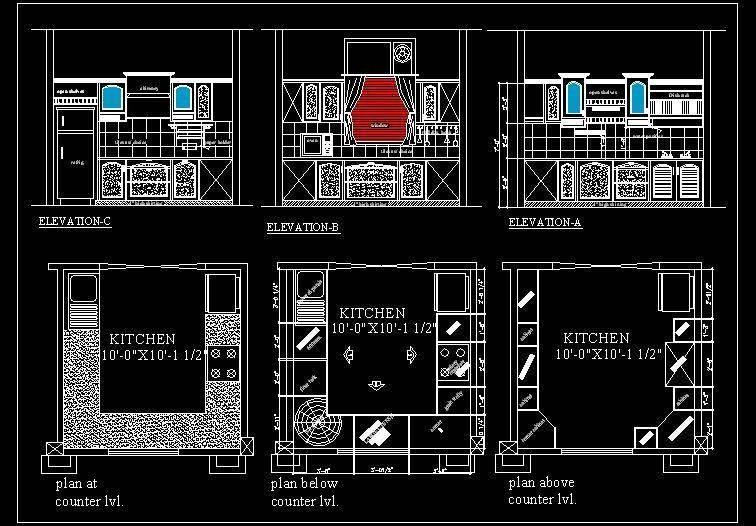 Kitchen Cabinets Design Autocad Adorable Autocad FreeDownload Of U Shape Modular Kitchen Design U 8947 10