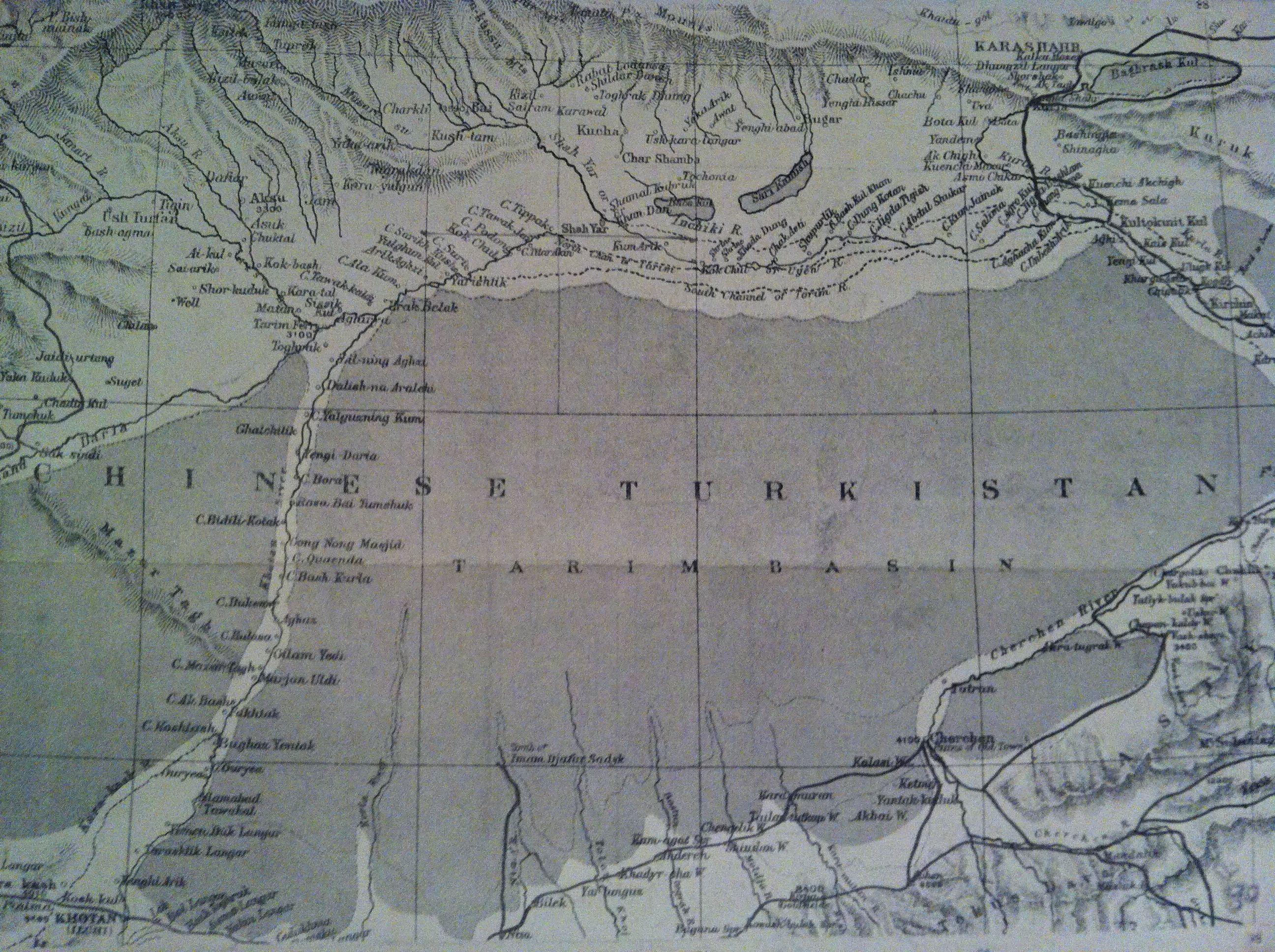 Sketch I Sketch Map of Taklamakan Desert