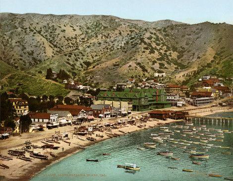 The_beach_at_Avalon,_Santa_Catalina_Island,_California,_1903