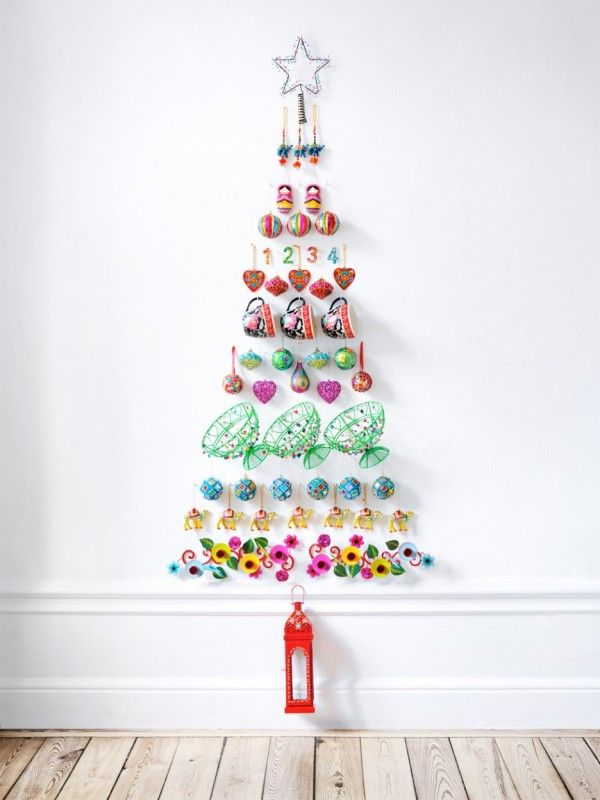 Wall Decoration Ideas With Ribbons : Christmas wall art crafty tree