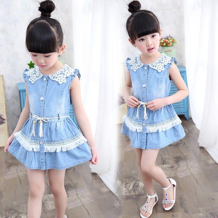 860f23368ef5 CH02512 Lovely summer denim skirt Korean style girl kids ...