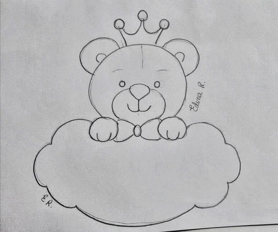Imagem De Desenho De Urso Por Rosangela Giacomelli Em Riscos