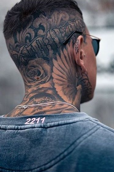 Mens Neck Tattoos : tattoos, Tattoos, Tattoo, Guys,