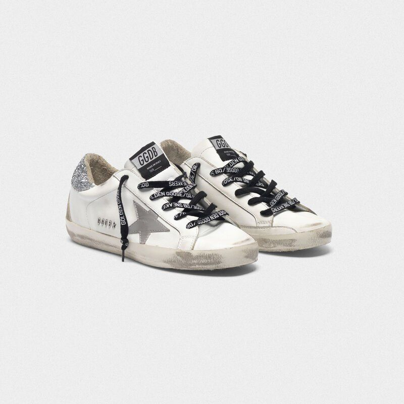 Superstar sneakers with silver heel tab