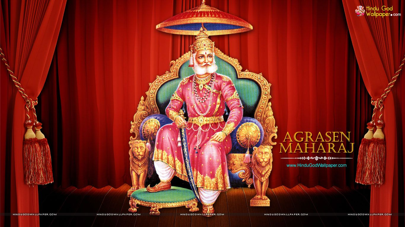 Free Agrasen Maharaja HD Wallpaper for desktop download with