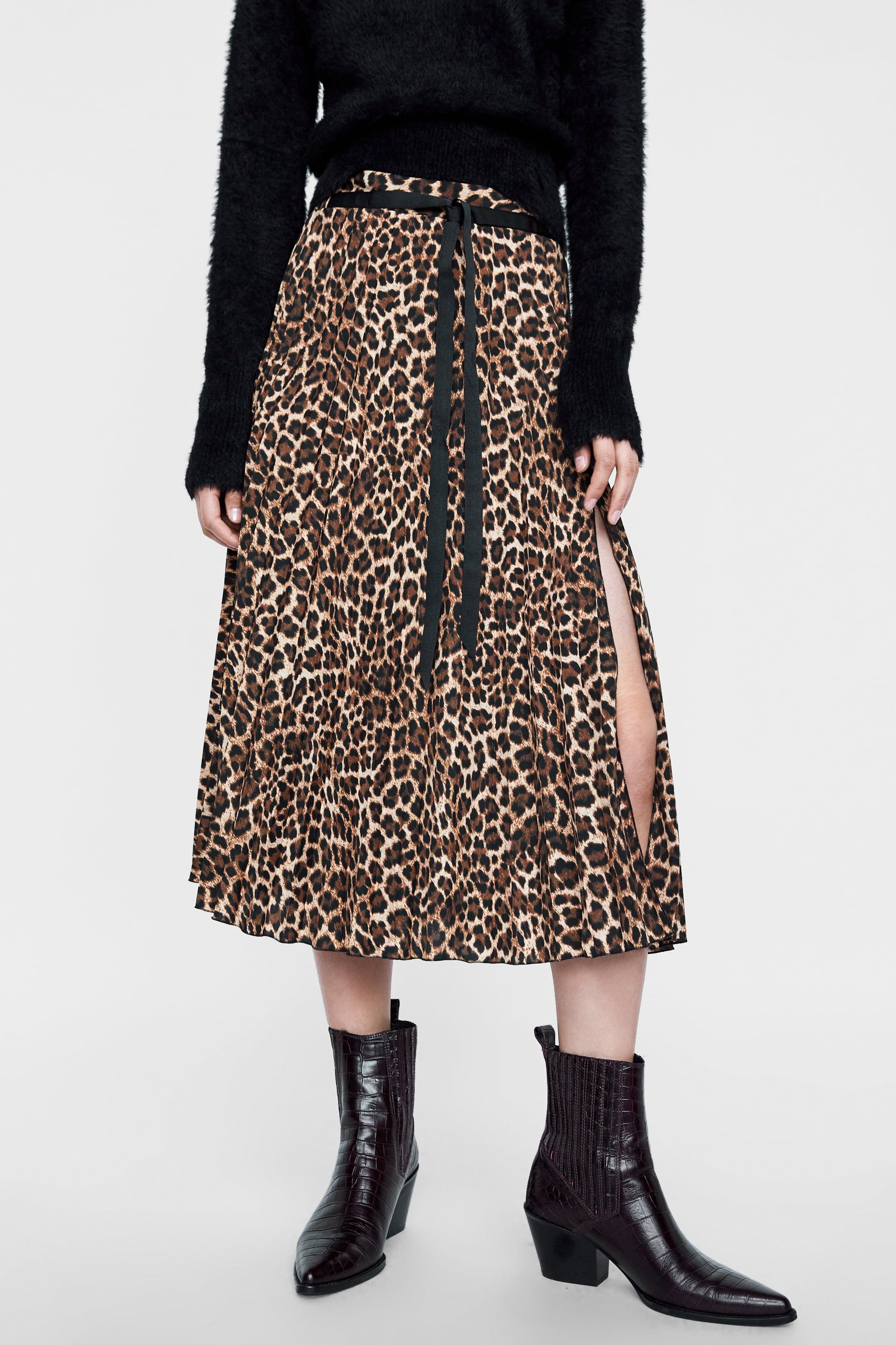f418fb4303 Image 2 of ANIMAL PRINT PLEATED SKIRT from Zara | Style Delights in ...