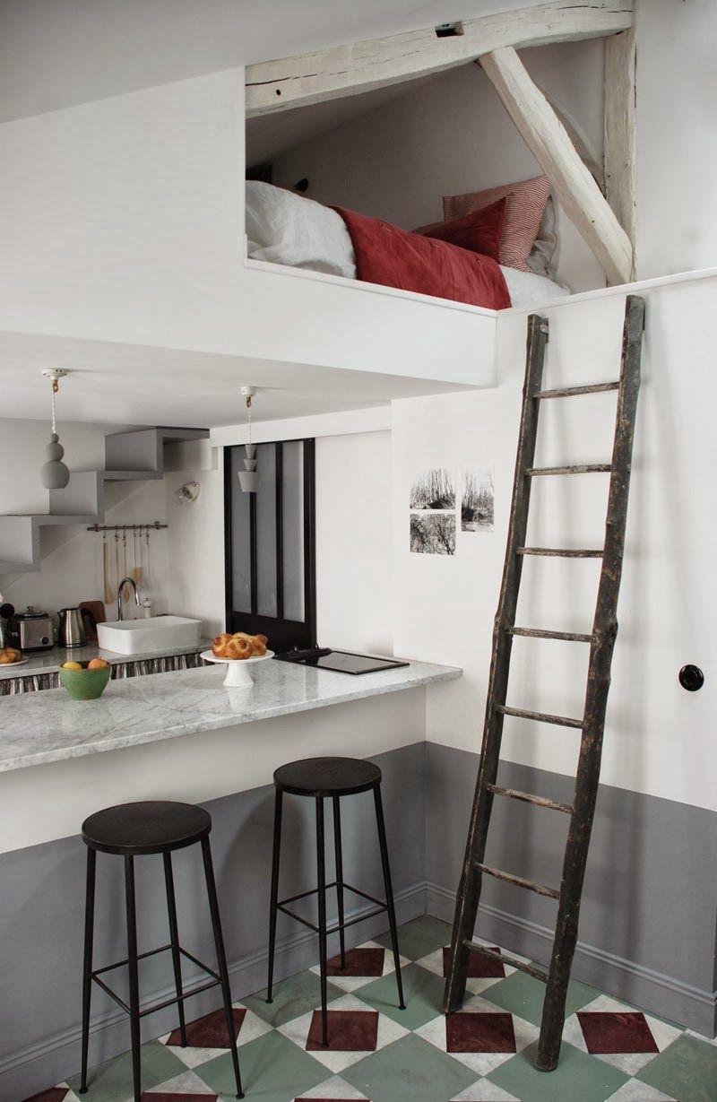 MARIANNE EVENNOU: Chez Pauline : 25 m2 perchés au dernier étage d\'un ...