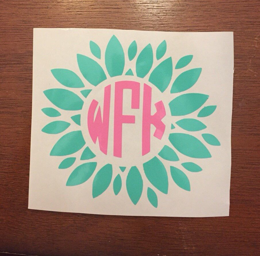 A personal favorite from my Etsy shop https://www.etsy.com/listing/257005523/chevron-circle-monogram-decal-circle