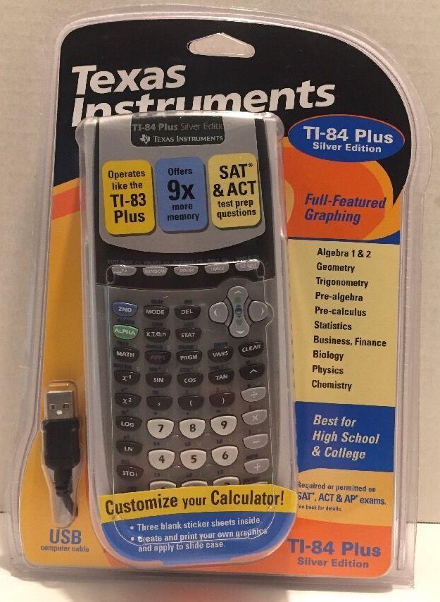 NEW in Box(NIB) Texas Instruments TI-84 Plus Silver Edition