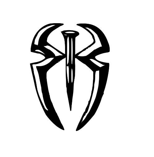 roman reigns symbol wwe wrestling wrestler decal sticker wwe