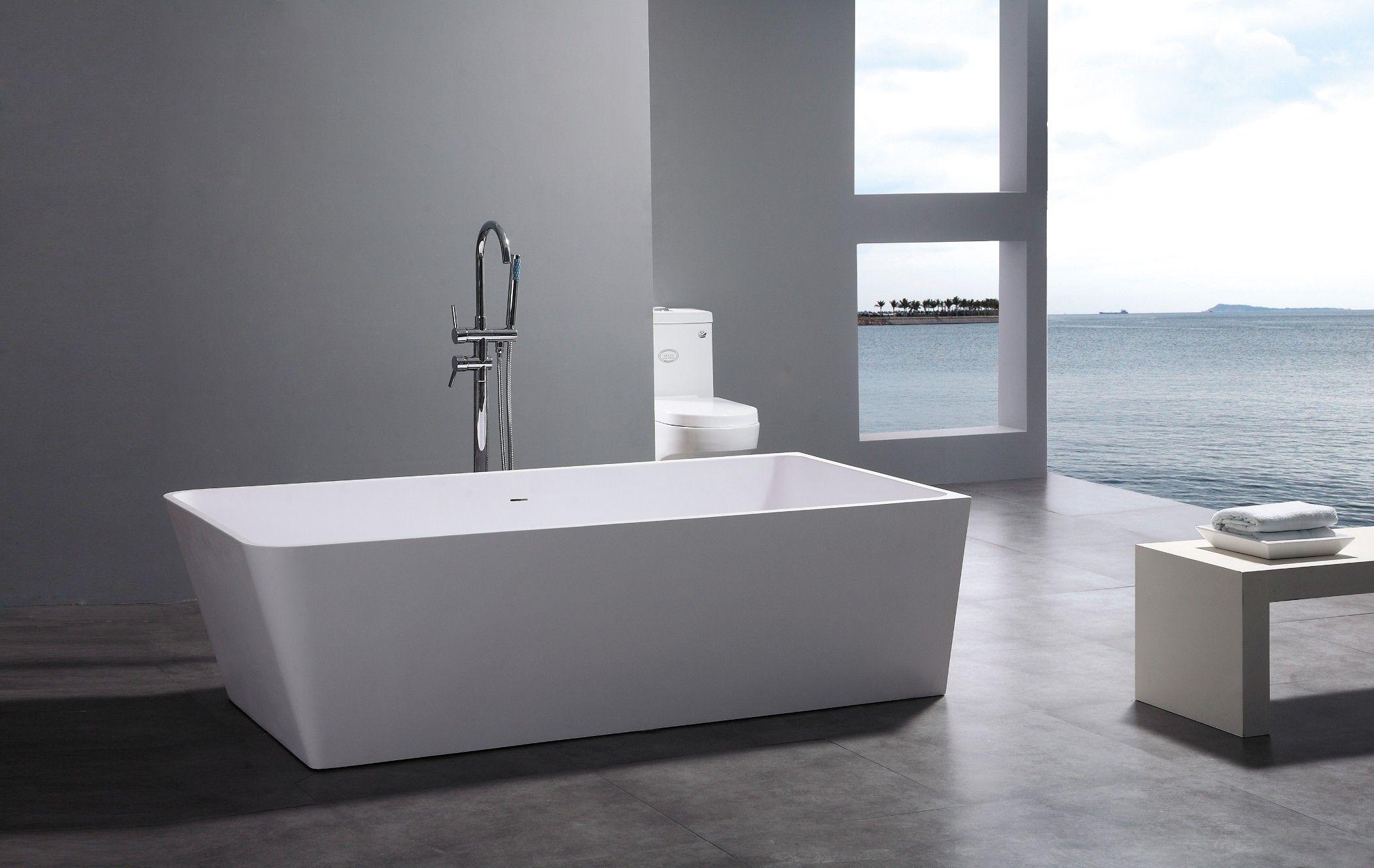 Leona Freestanding Soaking Tub 71   Imperial tile, Modern bathtub ...