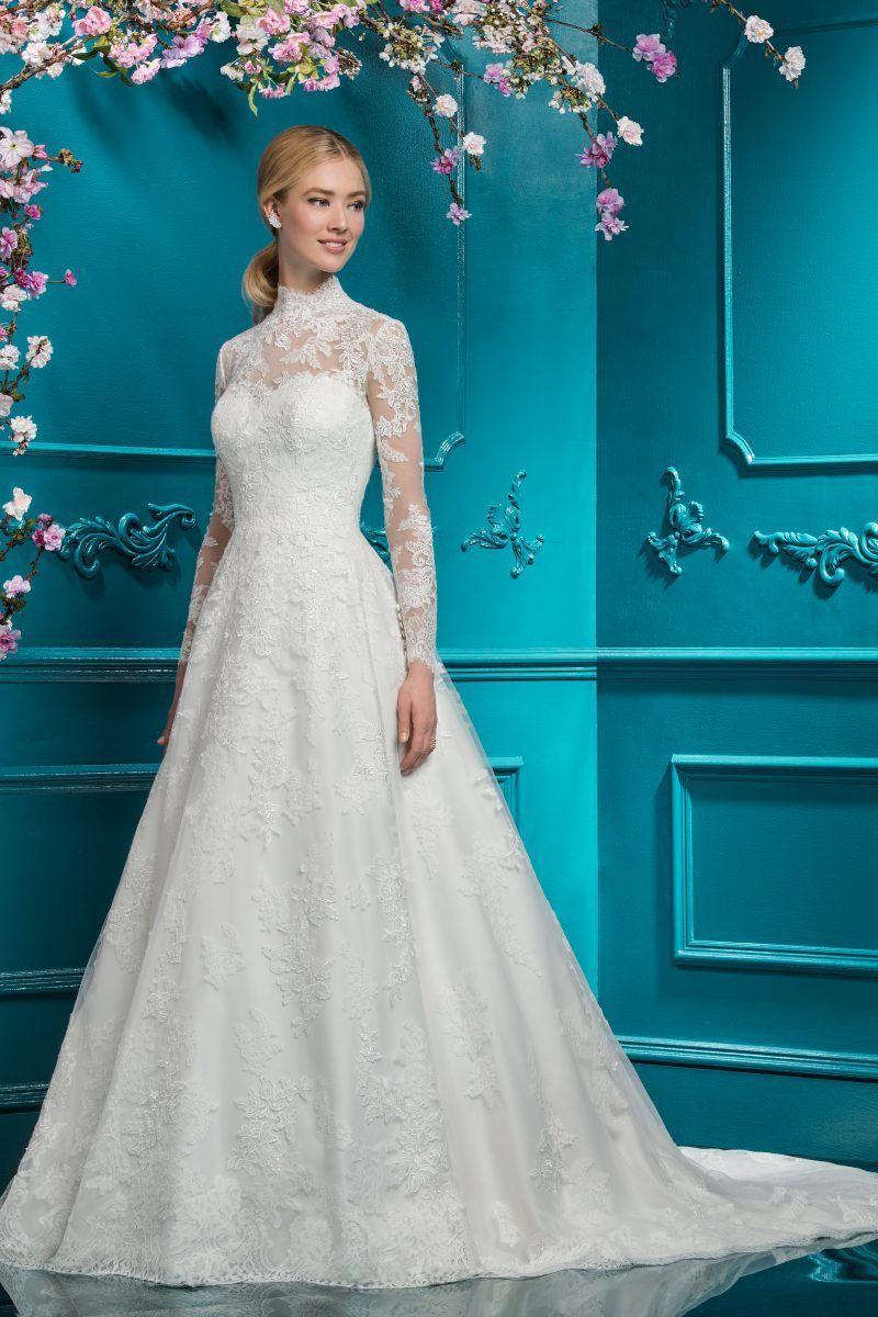 Lace ballgown style white with sleeves pinterest ellis