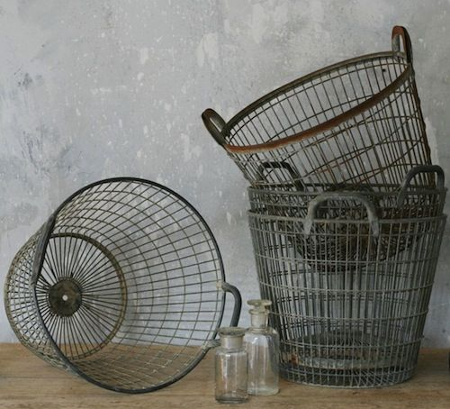 Vintage Zinc Baskets