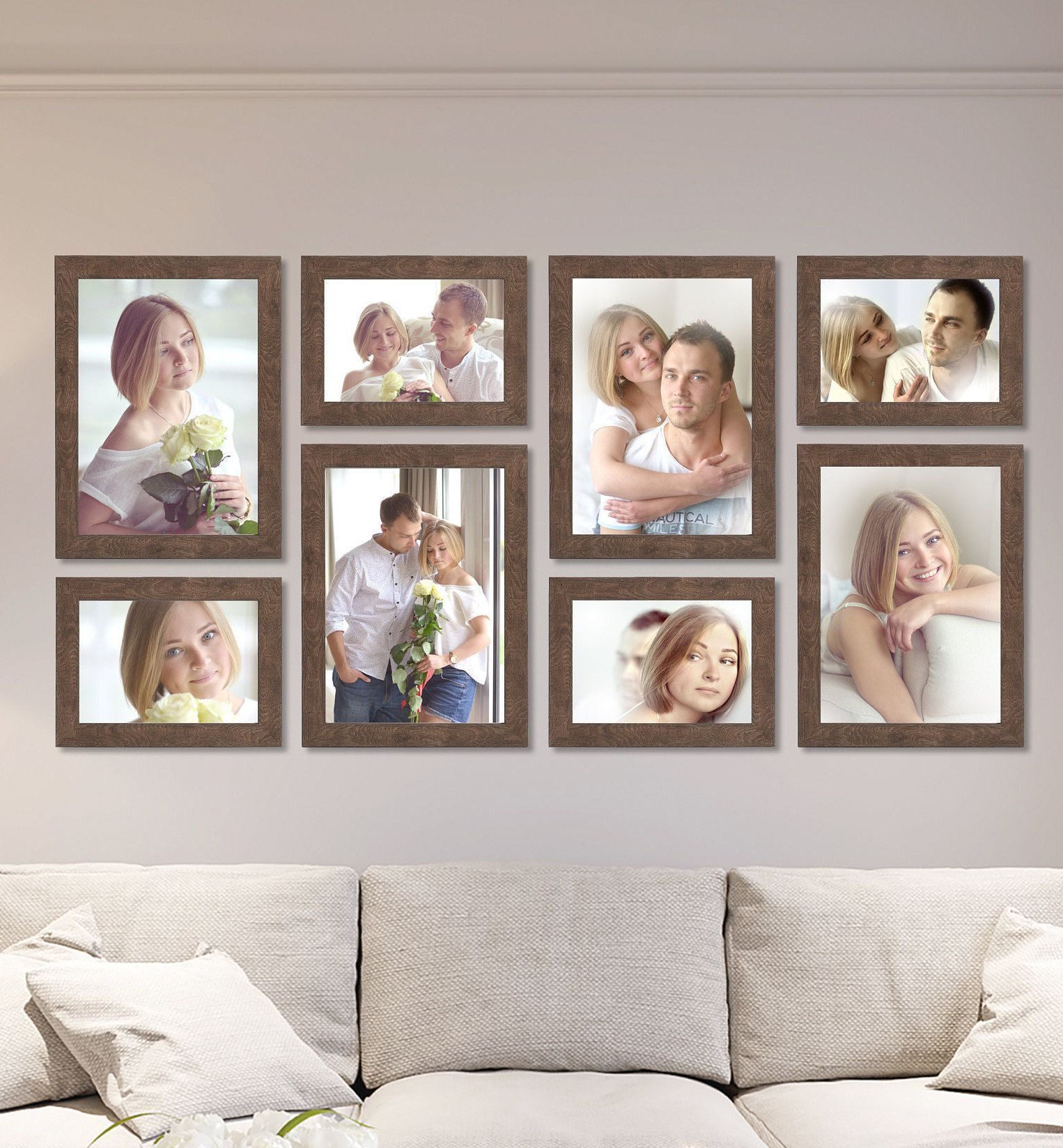 Home Interior Decoration This 8 Pack Gallery Wall Set Of Wooden Picture Frames Is Great For Ho Picture Frame Decor Photo Frame Decoration Wooden Picture Frames